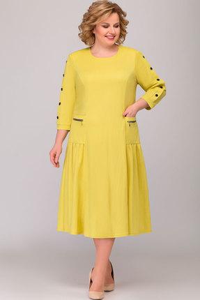 женское повседневные платье асолия, желтое