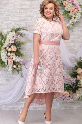 Платье Ninele 5776 пудра