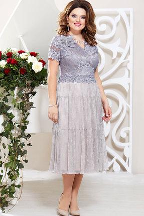 Платье Mira Fashion 4791-2 серые тона