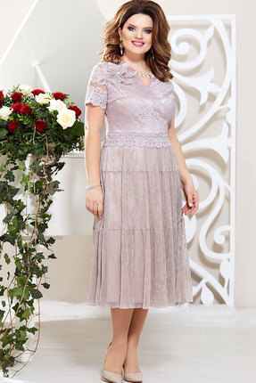 Платье Mira Fashion 4791 пудра
