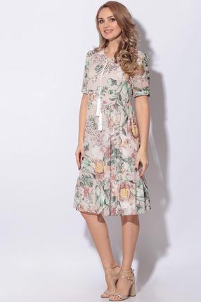Платье LeNata 12116 бежевый