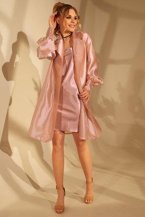 женское вечерние платье golden valley, розовое