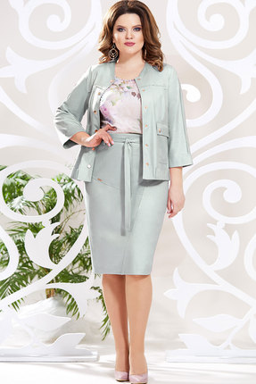 Комплект юбочный Mira Fashion 4783-2 серо-голубые тона