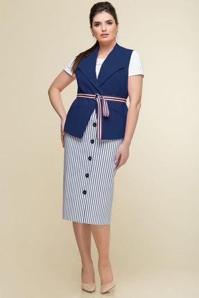 Комплект юбочный Elady 3492 синий с белым