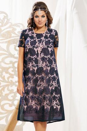 Платье Vittoria Queen 10893/1 темно-синий с розовым
