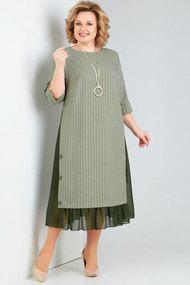 Платье Милора-Стиль 758 хаки