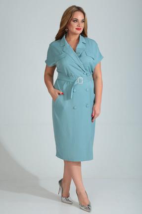 Платье Диамант 1524 голубой