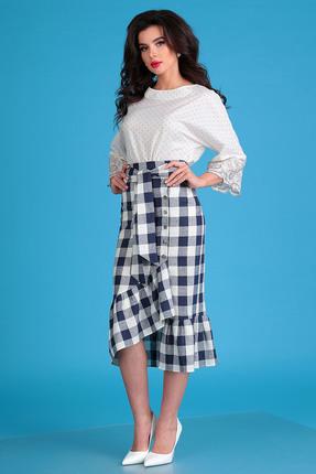 Комплект юбочный Мода-Юрс 2476 бежевый+синий