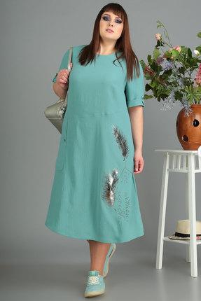 Платье Algranda 3445 бирюза