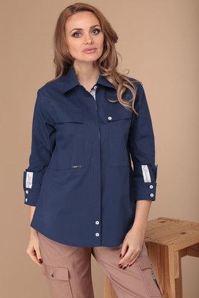 женская рубашка danaida, синяя