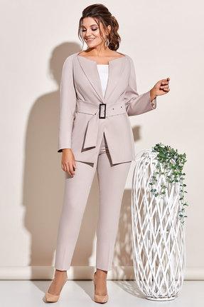 Комплект брючный Olga Style с654 светло-серые тона