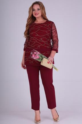 женский брючный костюм anastasia mak, бордовый