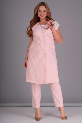 женский брючный костюм anastasia mak, персиковый