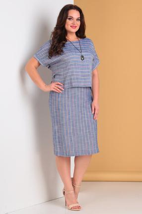 женское повседневные платье moda-versal, голубое