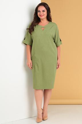 женское повседневные платье moda-versal, зеленое