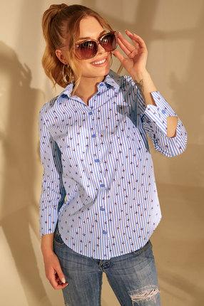 женская рубашка golden valley, голубая