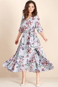 Платье Teffi style 1483 голубые тона
