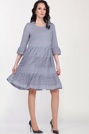 женское повседневные платье milana, серое
