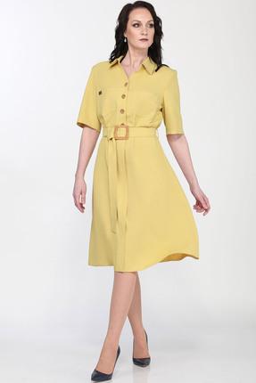 женское повседневные платье milana, желтое
