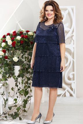 Платье Mira Fashion 4389-11 тёмно-синий