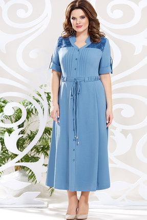 Платье Mira Fashion 4615-2 голубой