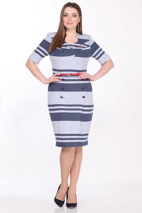 Платье Juliet Style 102-1 разноцвет в полоску