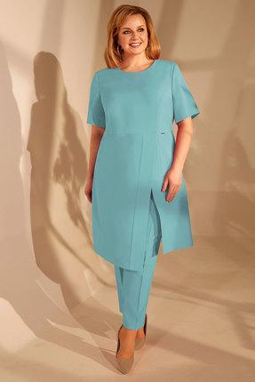 женский брючный костюм golden valley, голубой