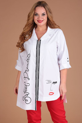 женская рубашка danaida, белая