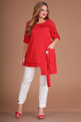 женский брючный костюм danaida, красный