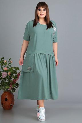 Платье Algranda 3489 зеленые тона