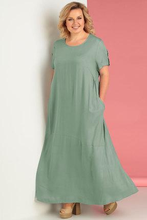Платье Algranda 3240-4 зеленые тона