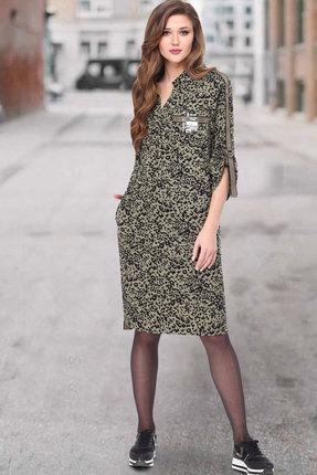 Платье ТАиЕР 838 зелёные тона