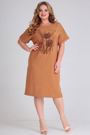 Платье Andrea Style 00269 терракотовый