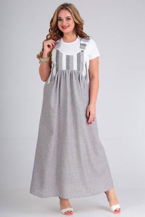 Комплект с сарафаном Andrea Style 00263 серый