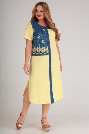 женское повседневные платье anastasia mak, желтое