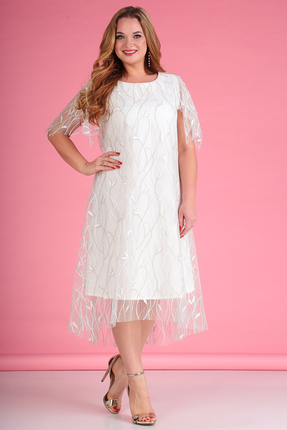 женское вечерние платье anastasia mak, молочное