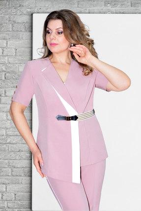 женский жакет needle ревертекс, розовый