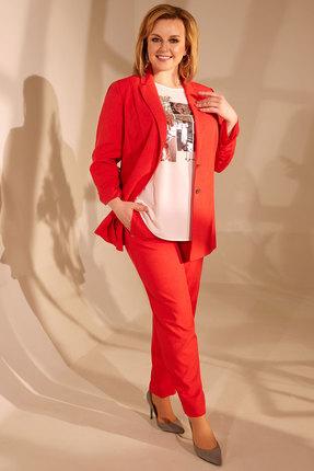 женский брючный костюм golden valley, красный