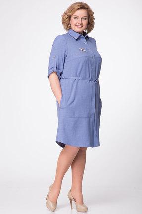 женское повседневные платье lady three stars, синее