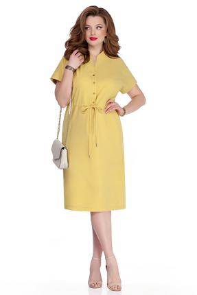 женское повседневные платье teza, желтое