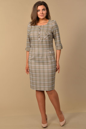 женское повседневные платье lady style classic, бежевое