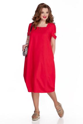 женское повседневные платье teza, красное