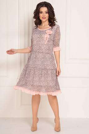 женское вечерние платье solomeya lux, розовое
