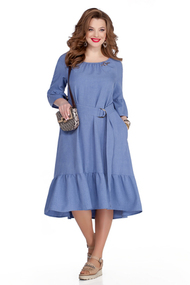 Платье TEZA 938 светло-синий