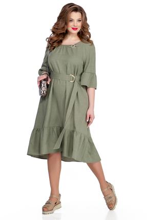 женское повседневные платье teza, хаки