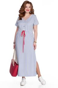 Платье TEZA 1042 синие тона