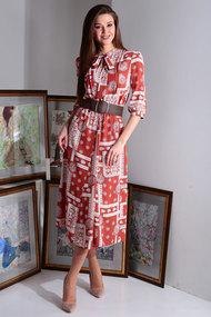 Платье Axxa 55122д терракотовый