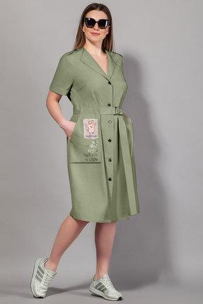 женское повседневные платье сч@стье, хаки