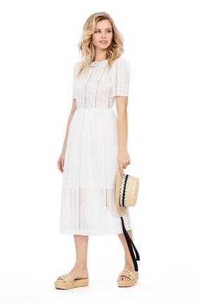 женское повседневные платье pirs, белое