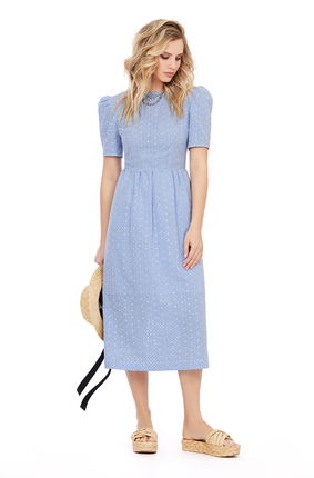 женское повседневные платье pirs, голубое